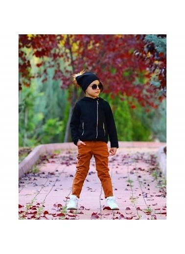 Quzucuk Kids Erkek Çocuk Kalın Ceketli Kahverengi Takım Kahve